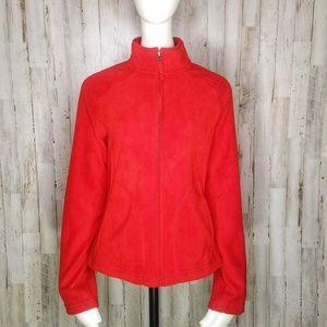Merona | Red Fleece Full Zip Jacket